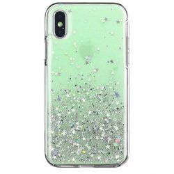Wozinsky Star Glitter Shining tok iPhone XS / iPhone X zöld telefontok hátlap tok