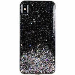 Wozinsky Star Glitter Shining tok Samsung Galaxy A70 fekete telefontok hátlap tok