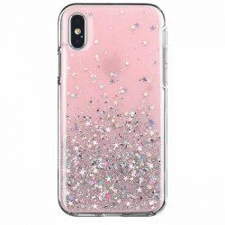 Wozinsky Star Glitter Shining tok Samsung Galaxy A70 rózsaszín telefontok tok