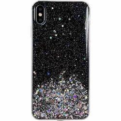 Wozinsky Star Glitter Shining tok Samsung Galaxy A50 fekete telefontok hátlap tok