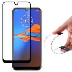 Wozinsky Full tok Flexi Nano üveg hibrid Screen Protector kerettel Motorola Moto E6 Plus fekete telefontok hátlap tok