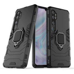 Ring Armor tok kitámasztható Kemény telefontok Xiaomi Mi Note 10 / Mi Note 10 Pro / Mi CC9 Pro fekete telefontok hátlap tok