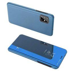 Clear View tok Samsung Galaxy A71 kék telefontok hátlap tok