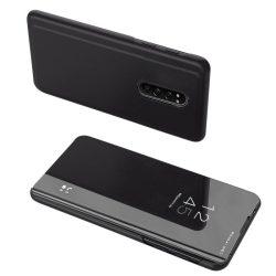 Clear View tok Sony Xperia 1 fekete telefontok tok