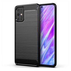 Carbon tok Rugalmas tok TPU tok Samsung Galaxy S20 Ultra fekete telefontok hátlap tok