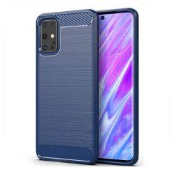Carbon tok Rugalmas tok TPU tok Samsung Galaxy S20 Ultra kék telefontok hátlap tok