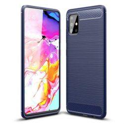 Carbon tok Rugalmas tok TPU tok Samsung Galaxy A71 kék telefontok hátlap tok