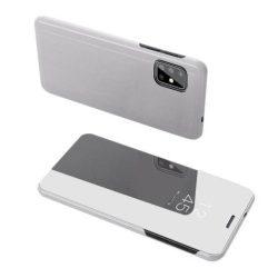 Clear View tok Samsung Galaxy A71 ezüst telefontok hátlap tok