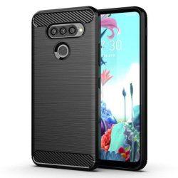 Carbon tok Rugalmas tok TPU tok LG K50S fekete telefontok tok