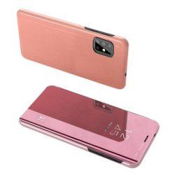 Clear View tok Samsung Galaxy S20 rózsaszín telefontok tok