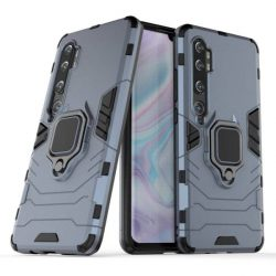 Ring Armor tok kitámasztható Kemény telefontok Xiaomi Mi Note 10 / Mi Note 10 Pro / Mi CC9 Pro kék telefontok hátlap tok