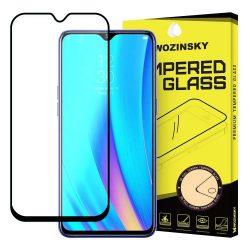 Wozinsky edzett üveg tempered glass tempered glass tempered glass Teljes Glue Super Tough képernyővédő fólia teljes képernyős kerettel tok barátságos Realme 3 Pro fekete telefontok hátlap tok