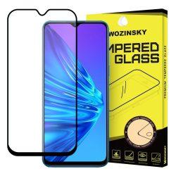 Wozinsky edzett üveg tempered glass tempered glass tempered glass Teljes Glue Super Tough képernyővédő fólia teljes képernyős kerettel tok barátságos Realme 5 fekete telefontok hátlap tok