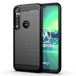 Carbon tok Rugalmas tok TPU tok Motorola G8 Plus fekete telefontok tok