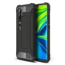 Hibrid Armor tok Kemény telefontok Xiaomi Mi Note 10 / Mi Note 10 Pro / Mi CC9 Pro fekete telefontok hátlap tok