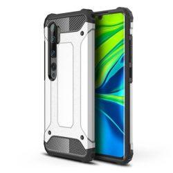 Hibrid Armor tok Kemény telefontok Xiaomi Mi Note 10 / Mi Note 10 Pro / Mi CC9 Pro ezüst telefontok tok
