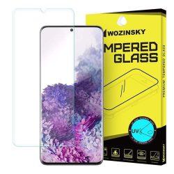 Wozinsky edzett üveg UV képernyővédő fólia 9H Samsung Galaxy S20 Plus (ujjlenyomat-barát) - ragasztó és UV lámpa nélkül (csak az üvegfólia)