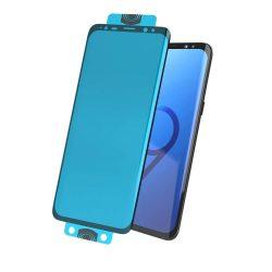 3D Edge Nano Flexi Glass hibrid Full Screen Protector kerettel Samsung Galaxy S20 fekete (ujjlenyomat-barát) kijelzőfólia telefonfólia
