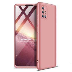 GKK 360 Protection tok Első és hátsó tok az egész testet fedő Samsung Galaxy A71 rózsaszín