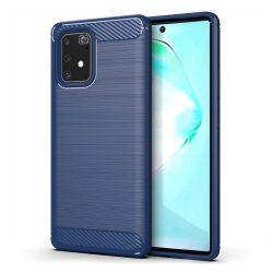 Carbon tok Rugalmas Cover TPU tok Samsung Galaxy S10 Lite blue