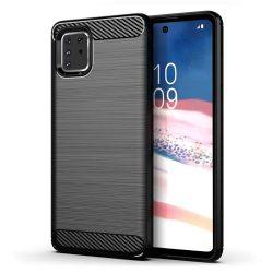 Carbon tok Rugalmas Cover TPU tok Samsung Galaxy Note 10 Lite fekete