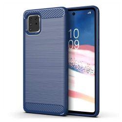 Carbon tok Rugalmas Cover TPU tok Samsung Galaxy Note 10 Lite blue