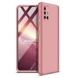 GKK 360 Protection tok Első és hátsó tok az egész testet fedő Samsung Galaxy A51 rózsaszín