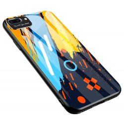 Színes üveg tok Tartós burkolat edzett üveg hátlap és a kamera védő iPhone 8 Plus / iPhone 7 Plus minta 1