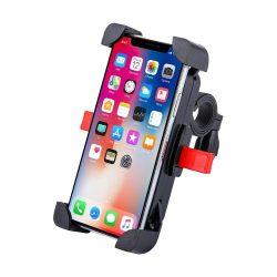 Kerékpár motorkerékpár kormány telefon 360 tartó fekete