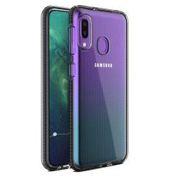 Tavaszi tok világos TPU gél védőburkolat színes kerettel Samsung Galaxy A20e fekete