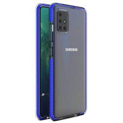 Tavaszi tok világos TPU gél védőburkolat színes kerettel Samsung Galaxy A51 sötétkék