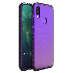 Tavaszi tok világos TPU gél védőburkolat színes kerettel Huawei P Intelligens 2019 fekete