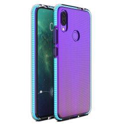 Tavaszi tok világos TPU gél védőburkolat színes kerettel Huawei P Intelligens 2019 világoskék
