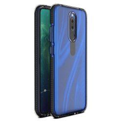 Tavaszi tok világos TPU gél védőburkolat színes kerettel Huawei Mate 20 Lite fekete