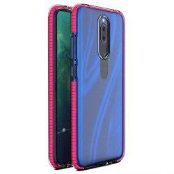 Tavaszi tok világos TPU gél védőburkolat színes kerettel Huawei Mate 20 Lite rózsaszín