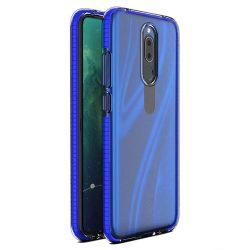 Tavaszi tok világos TPU gél védőburkolat színes kerettel Huawei Mate 20 Lite sötétkék