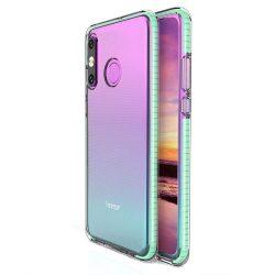 Tavaszi tok világos TPU gél védőburkolat színes kerettel Huawei P30 Lite menta