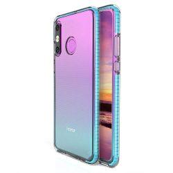 Tavaszi tok világos TPU gél védőburkolat színes kerettel Huawei P30 Lite világoskék