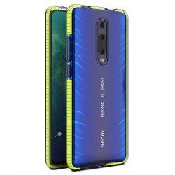 Tavaszi tok világos TPU gél védőburkolat színes kerettel Xiaomi Mi 9T / Xiaomi Mi 9T Pro sárga