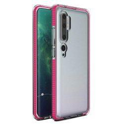 Tavaszi tok világos TPU gél védőburkolat színes kerettel Xiaomi Mi Note 10 / Mi Note 10 Pro / Mi CC9 Pro rózsaszín