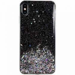 Wozinsky Star Glitter Shining tok Samsung Galaxy A51 fekete telefontok