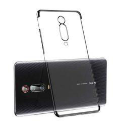Clear Color Gel tok TPU Galvanizálás keret védő Xiaomi Mi 9T / Xiaomi Mi 9T Pro fekete