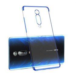 Clear Color Gel tok TPU Galvanizálás keret védő Xiaomi Mi 9T / Xiaomi Mi 9T Pro kék