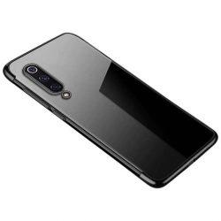Clear Color Gel tok TPU galvanizált keret telefontok Xiaomi Mi 9 Lite / Xiaomi Mi CC9 fekete telefontok