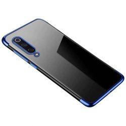 Clear Color Gel tok TPU galvanizált keret telefontok Xiaomi Mi 9 Lite / Xiaomi Mi CC9 kék telefontok