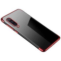 Clear Color Gel tok TPU galvanizált keret telefontok Xiaomi Mi 9 Lite / Xiaomi Mi CC9 piros telefontok