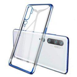 Clear Color Gel tok TPU Galvanizálás keret védő Xiaomi Mi Note 10 / Mi Note 10 Pro / Mi CC9 Pro kék