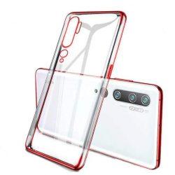 Clear Color Gel tok TPU Galvanizálás keret védő Xiaomi Mi Note 10 / Mi Note 10 Pro / Mi CC9 Pro piros