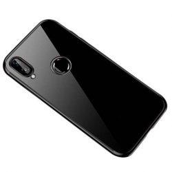 Clear Color Gel tok TPU galvanizált keret tok Huawei P smart 2019 fekete telefontok
