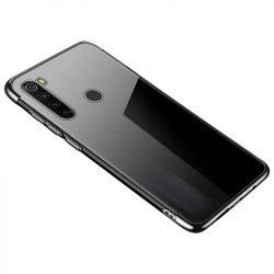 Clear Color Gel tok TPU galvanizált keret tok Motorola G8 Plus fekete telefontok